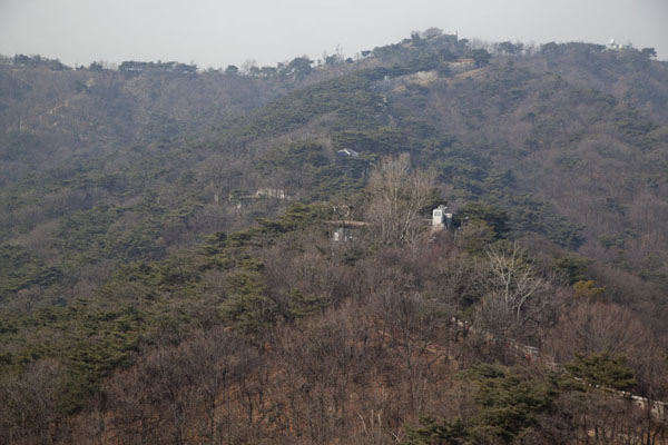 Looking over the city wall towards Gokjang | Mount Bugaksan City Wall | South Korea