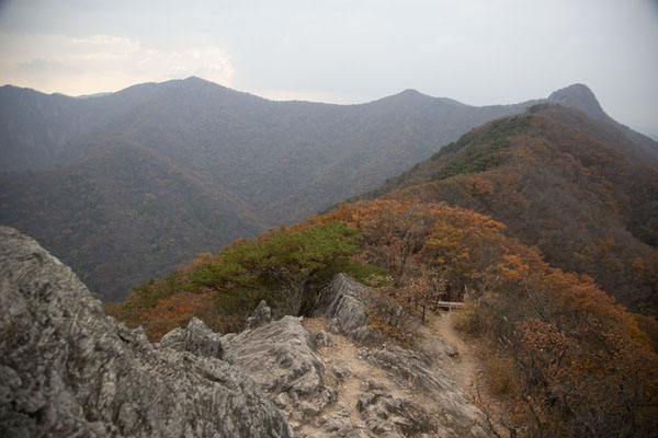 Foto van The ridge near Bulchulbong PeakNaejangsan - Zuid Korea