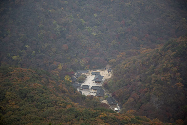 Picture of Naejangsa temple complex seen from Seoraebong PeakNaejangsan - South Korea