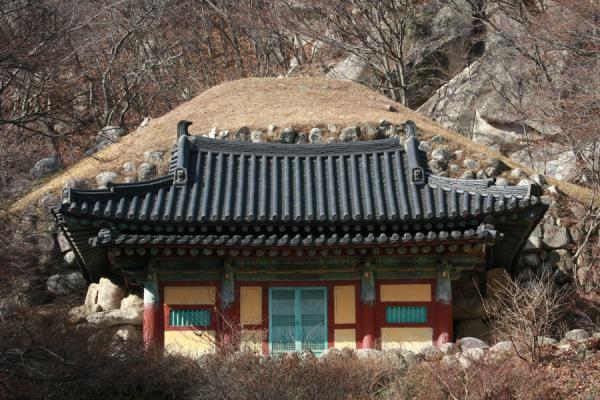 Picture of Seokguram Grotto (South Korea): Seokguram Grotto seen from up front