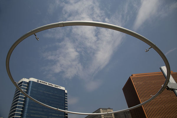 Picture of Circular ring with hooks which can turn it into a provider of shadeSeoul - South Korea