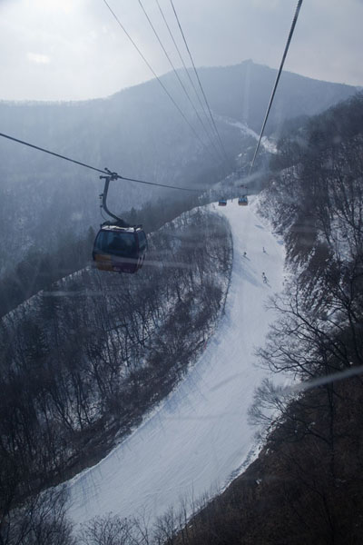 Rainbow Fantastic seen from the gondola | Yongpyong skiing | South Korea