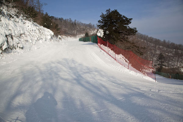 The upper part of the Rainbow Paradise run | Yongpyong skiing | South Korea