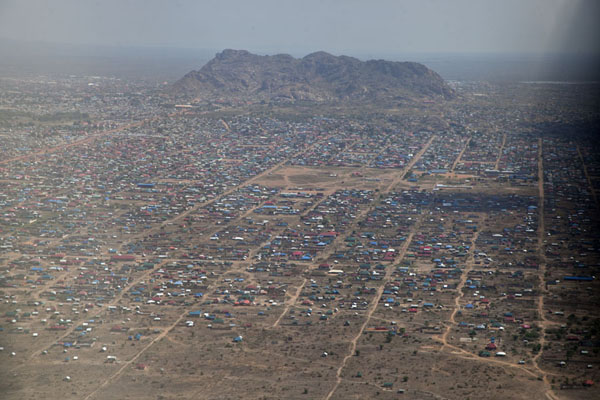 Picture of Jebel Kujul seen from the planeJuba - South Sudan