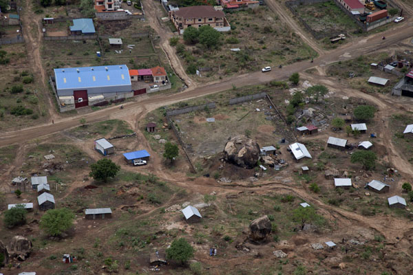 Picture of View of houses and a boulder from the top of the mountainJuba - South Sudan