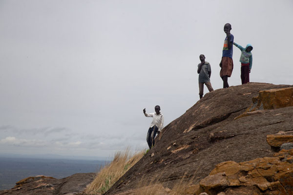 Kids on top of the mountain | Jebel Kujul | South Sudan