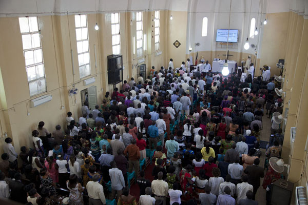 Picture of Easter mass in the All Saints Cathedral in JubaJuba - South Sudan