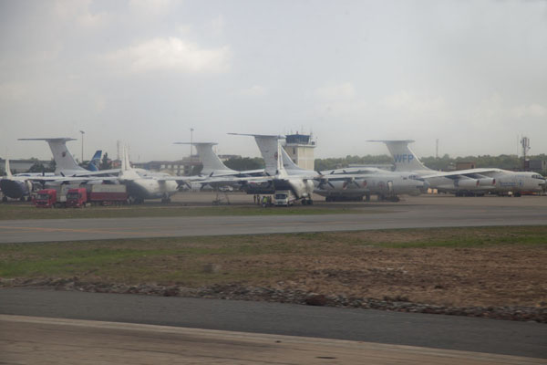 The international airport of Juba - full of planes of United Nations and other international agencies | Juba Snapshots | South Sudan