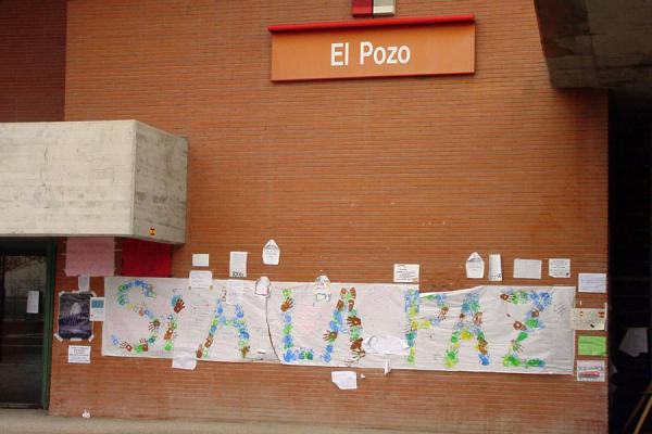 El Pozo station wall and decorations, part of memorial | 11 March | Spain
