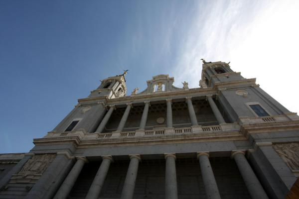 Picture of Almudena Cathedral (Spain): Neoclassical facade of Almudena Cathedral facing the Royal Palace