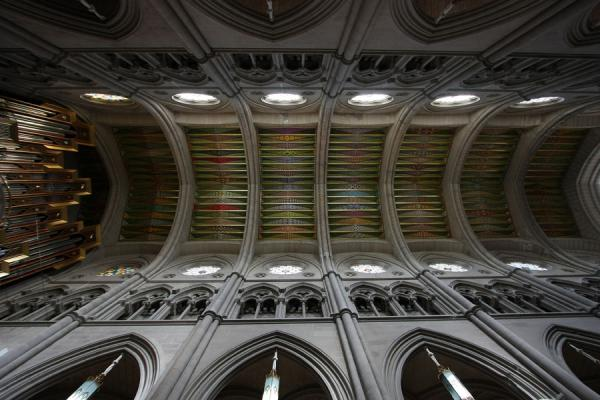 Picture of Almudena Cathedral (Spain): Colourful ceiling of Almudena Cathedral