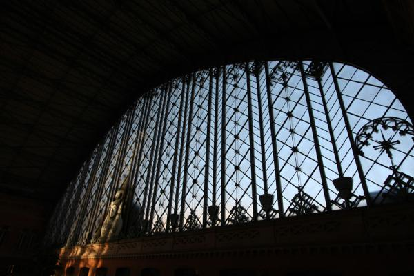 The fantastic window at the old entrance of Atocha station | Atocha Station | Spanje