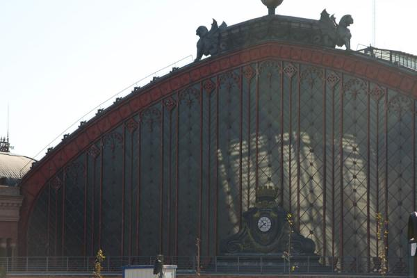 Picture of Entrance of old Atocha station: enormous windowMadrid - Spain