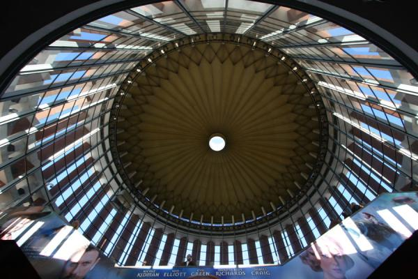 Picture of Looking up the circular access buildingMadrid - Spain