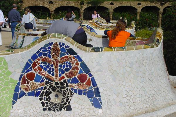 Enjoying sun and art | Barcelona Gaudí art | Spain