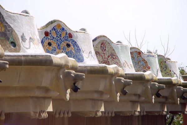 Picture of Gaudi art in Park Güell, Barcelona