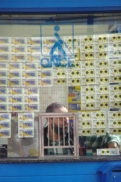 Picture of Rambla (Spain): Lottery ticket seller on Rambla, Barcelona