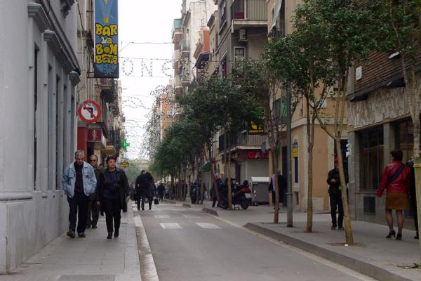 Walking down one of the typical Barceloneta streets | Barceloneta | Spain