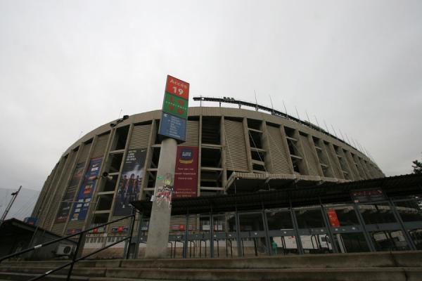 Picture of Camp Nou stadium (Spain): Camp Nou stadium seen from outside