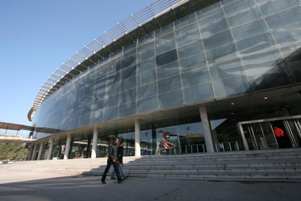 Picture of Camp Nou stadium (Spain): Modern entrance of Camp Nou stadium