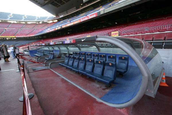 Dug-out in Camp Nou stadium | Camp Nou stadium | Spain