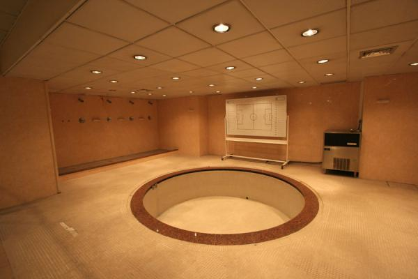 Picture of Camp Nou changing room: showers and bath