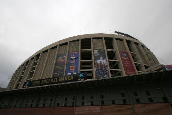 Picture of Camp Nou stadium (Spain): Looking up at Camp Nou stadium