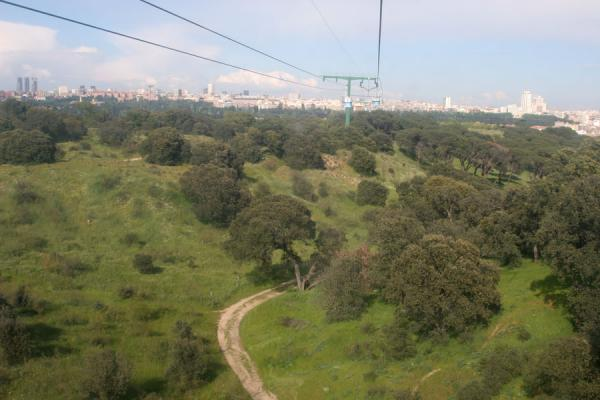 Picture of Madrid seen from the funicular at Casa de Campo