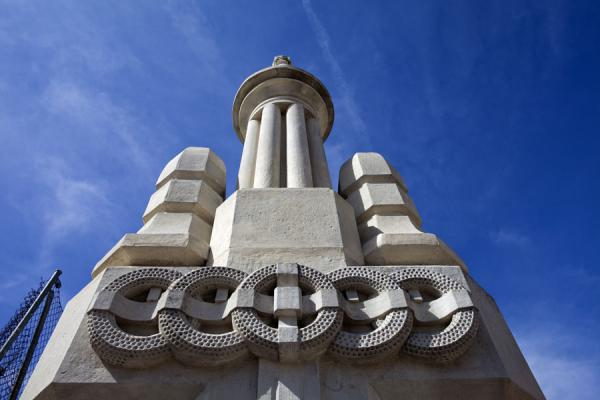 Picture of Decorative pillar at the cemetery of Almudena - Spain - Europe