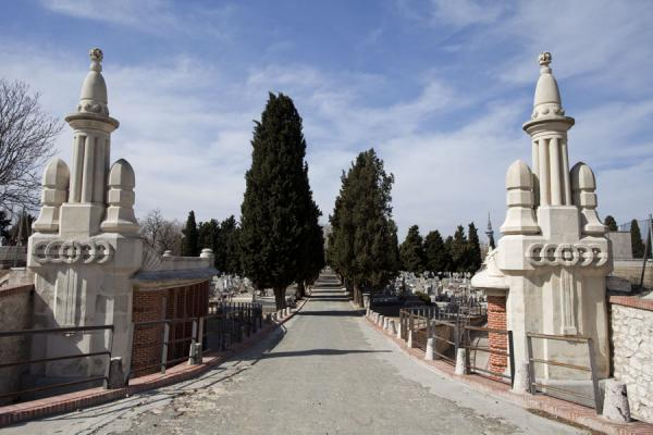 One of the many lanes in the Almudena Cemetery | Almudena begraafplaats | Spanje
