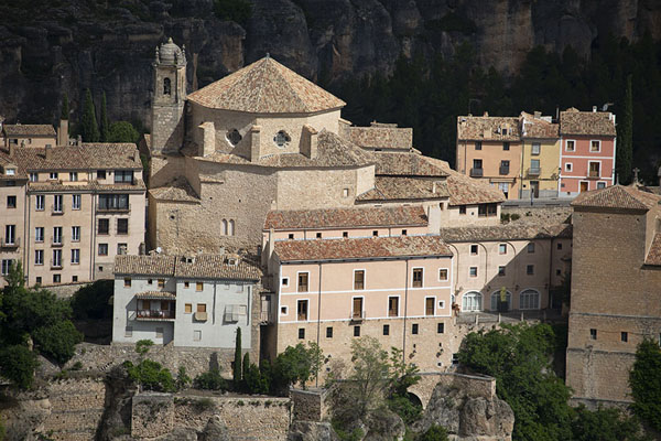 The Iglesia de San Pedro on the north side of the old town of Cuenca | Cuenca old town | Spain