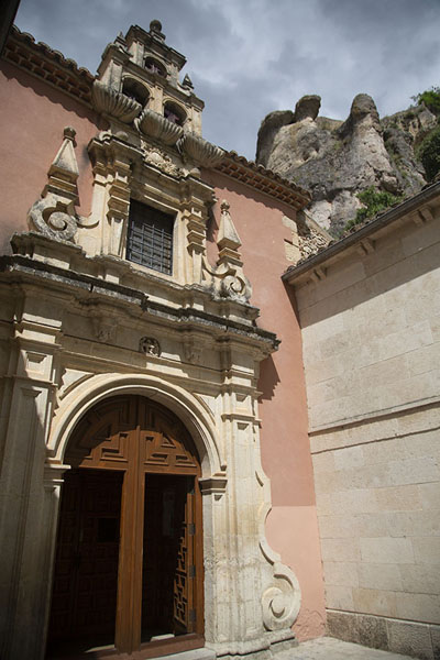 Ermita de las Angustias lies on the west side of the old town | Cuenca old town | Spain
