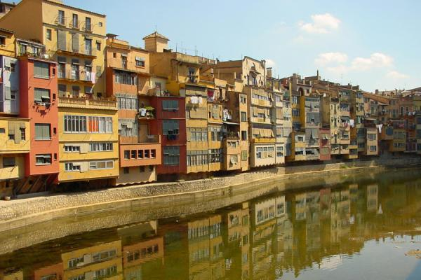 Houses on the Onyar, the most characteristic sight of Girona | Girona | Spain