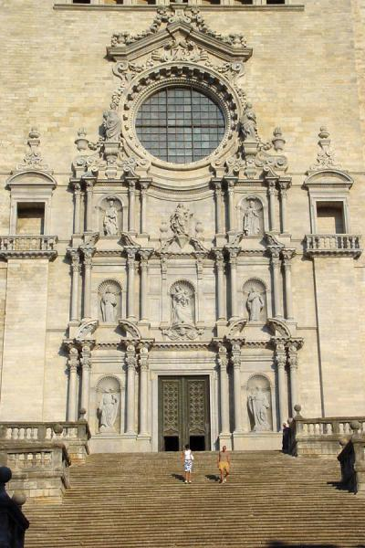 Picture of Girona (Spain): Girona cathedral, stairs leading to the entrance