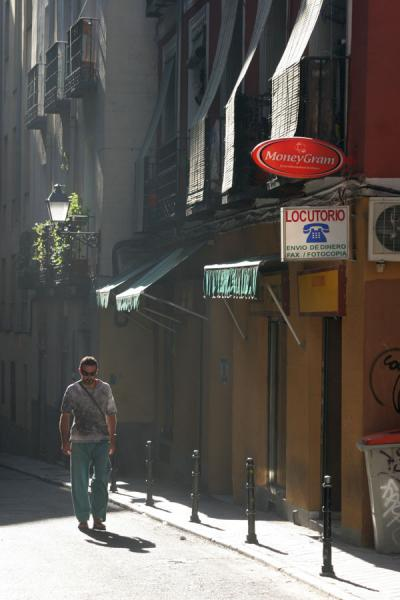 Sunlight falling into one of the alleys of Latina | Latina | Spain