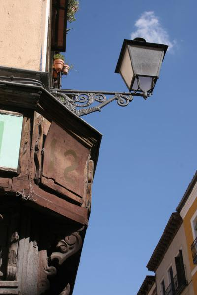 Lantern on a corner in Latina neighbourhood | Latina | Spain