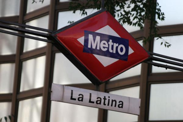 Subway sign in Latina subway station | Latina | Spain