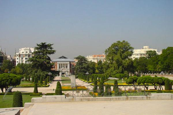 View from inside the Retiro park | Madrid Parks | Spain
