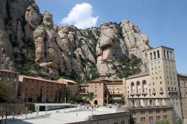 Montserrat monastery clinging to the cliffs | Montserrat | Spain