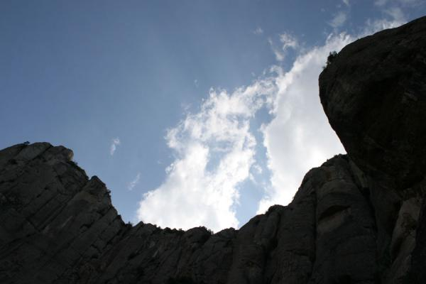 Looking up at the cliffs of Montserrat | Montserrat | Spain