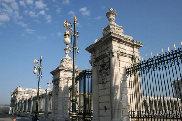 Part of the enormous fence on the southern side of the Palacio Real | Royal Palace | Spain