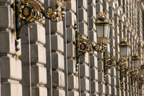 Picture of Royal Palace (Spain): Royal Palace: lanterns on the walls of one of the wings