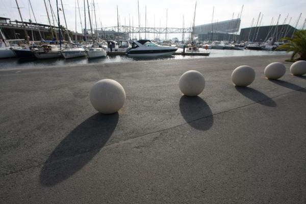 Picture of Boats moored in the harbour of Parc Diagonal Mar