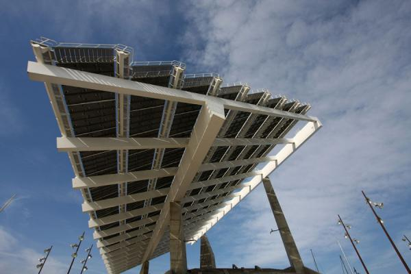 View of the gigantic solar panel at Parc Diagonal Mar | Parc Diagonal Mar | Spain