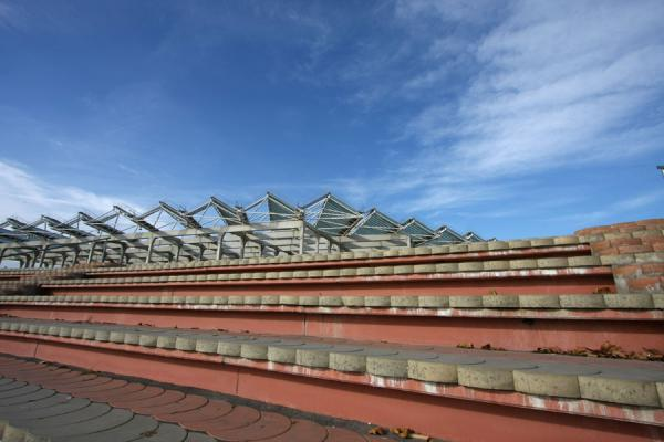 Roof and seats at Parc Diagonal Mar | Parc Diagonal Mar | Spain