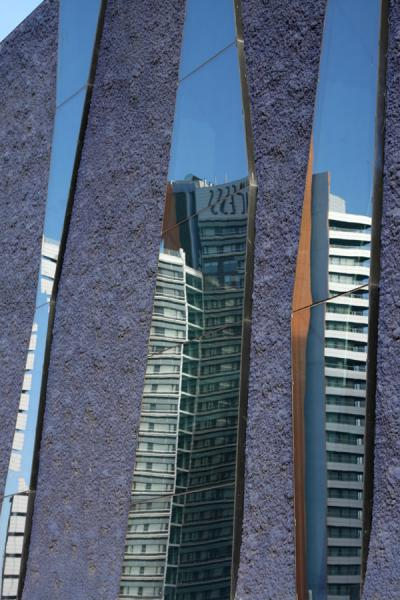 Modern architecture reflected in windows | Parc Diagonal Mar | Spain