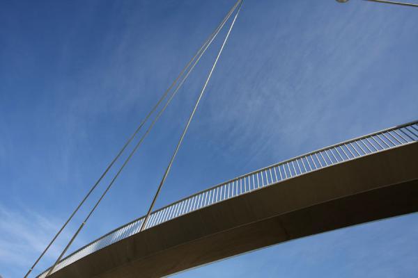 Picture of Parc Diagonal Mar (Spain): Pedestrian bridge in close-up
