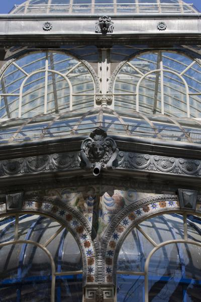 Foto di Detail of the Crystal Palace in the Retiro ParkMadrid - Spagna