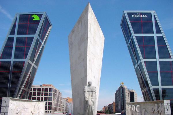 Picture of Paseo de la Castellana (Spain): Gate of Europe, KIA towers, Castellana, Madrid