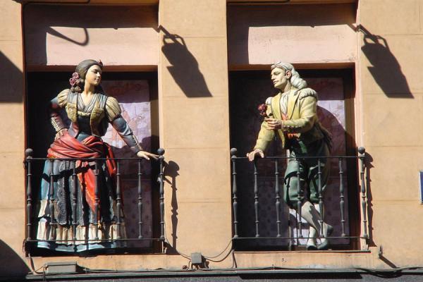 Picture of Paseo de la Castellana (Spain): Paseo del Prado: Balcony scene - Madrid